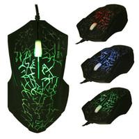 renkli pc mouse toptan satış-Malloom Marka Yeni 3 tuşları fare Profesyonel Renkli LED Aydınlatmalı 4000 DPI Optik Kablolu Gaming Mouse Gamer Fareler PC Laptop Için sem fio