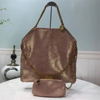 Wholesale large genuine brown leather tote resale online - Classic portable chain with buckskin texture glossy pearl series with soft messenger bag large X35X6 CM handbag