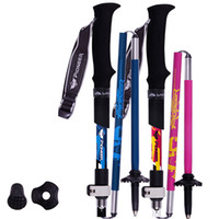 Wholesale Rod Grips - Ultra-light Carbon 5 Section Cane Short Fiber Lock Sticks Folding Rod Climbing Walking Trekking Camping Poles Alpenstock Stick