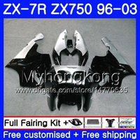 zx7r abs verkleidung großhandel-Korpus für KAWASAKI schwarz NINJA ZX-7R ZX750 ZX7R 00 01 02 03 203HM35 ZX-750 ZX7R ZX7R 1996 2000 2001 2003 Verkleidungen