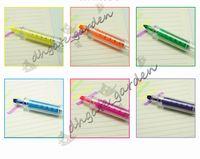 ingrosso evidenziatori della siringa-1000pcs / lot 6 colora il nuovo punto culminante della siringa penna / modo di trasporto libero all'ingrosso