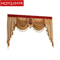 cortinas usadas venda por atacado-Valência personalizada de luxo Usada para cortinas na parte superior (Compre link dedicado VALANCE / Não inclui cortina de pano e tule)
