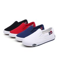 Wholesale new kids sneakers canvas resale online - Brand Children shoes girls sneakers Breathable canvas boys girls sports shoes new spring fashion solid color casual kids shoes