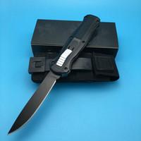 лучший нейлоновый нож оптовых-Лучший сделал 3310 черный одно лезвие копье атласная равнина точка черный нейлон ножны кемпинг нож открытый нож нож скарабей