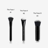 gesicht skulptur make-up großhandel-MJ DAS GESICHT I / II / III Flüssige Sculpting / Buffing Foundation Pinsel Nr.1 / 2/3 - Box Package Qualität BB Creme Foundation Beauty Make-up Pinsel