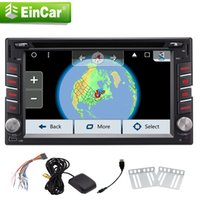 Wholesale mp3 mp4 mp5 android online - Android Quad core Headunit dvd cd player mp5 Double din GPS Navigation Car dvd radio Stereo Autoradio p Video Video out FM AM