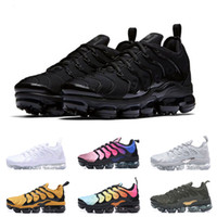 Wholesale 2018 TN Plus Men Running Shoes VM Olive In Metallic White Silver Colorways Women Shoes For Designer Trainer Male Pack Triple Black Sneakers