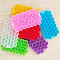 Wholesale silicone chocolate shapes tray for sale - Group buy Safe Resuable Silicone Mold Non Toxic Corrosion Resistant Ice Cube Tray Lattice Honeycomb Shape Mould Baking Tools bh B