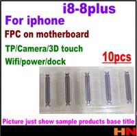 conector wifi de iphone al por mayor-10 unids nuevo para el iphone 8 8p más el tablero lógico LCD cámara de la pantalla 3D retroiluminación GPS wifi conector parte FPC piezas de reparación
