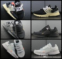 premium selection da155 f280e Wholesale off white shoes for sale - 2018 New Fashion Presto Running Shoes  For Men Black