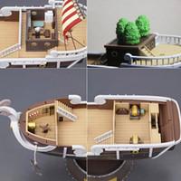 ein stück boot modell großhandel-Neues Design 35 cm Anime One Piece Thousand Sunny Meryl Boot Piratenschiff Figur Pvc Action Figure Spielzeug Sammeln Modell Spielzeug Geschenke