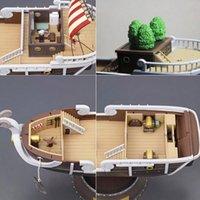 ingrosso modelli di navi pirata-Nuovo design 35 cm Anime One Piece Mille Sunny Meryl Boat Pirate Ship Figure Action PVC Figure Giocattoli Modello da collezione Giocattoli Regali