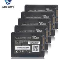 sabit disk ssd 2.5 toptan satış-256G MLC SSD Dahili Sabit Disk V800 Solid State Sürücü 2.5 Masaüstü Dizüstü PC için SATA3 Rekabetçi