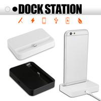 masaüstü yerleştirme istasyonu ücreti toptan satış-IPhone 7 Için evrensel Dock Şarj Standı 7 Artı 8 8 Artı Masaüstü Perakende Paketi Ile iPhone Için Dock Şarj İstasyonu Cradle Cradle