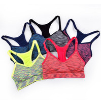 Wholesale Wholesale Japanese Underwear - Bright Colored Women Sports Bra Seamless Japanese Sleep Sports Underwear Shockproof Lady Yoga Breathable Adjustable Sports Vest