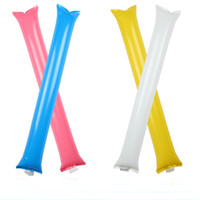 Wholesale concert toys for sale - Colorful Cheering Inflatable Stick Birthday Wedding Party Cheer Playing Toy Concert Supplies Bangbang Noisemaker Cheering Sticks