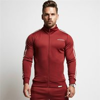 Wholesale workout hoodies - Men Gyms Hoodies Gyms Fitness Bodybuilding Sweatshirt Crossfit Zipper Sportswear Male Workout Hooded Thick Jacket