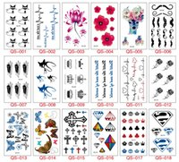 Wholesale flower butterflies tattoos - NEW ARRIVAL Temporary Tattoos cute lovely cat flower butterfly Easy to use and remove FREE SHIPPING