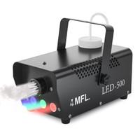 máquinas de humo al por mayor-500w LED RGB Máquina de niebla Máquina portátil de humo con control remoto inalámbrico para la etapa, club, partido, disco