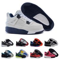 release date ad040 598c1 2018 Nike air Jordan 4 13 retro 4s OG schwarze Katze Basketball Schuhe  reflektieren für Kinder Jungen Mädchen Sport Training Turnschuhe hohe  Qualität ...