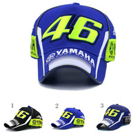 Wholesale 3d Hat Letters - New Rossi VR46 Baseball Cap MOTO GP 46 Motorcycle 3D Racing Embroidered Cap Men's Women Snapback Caps YAMAHA Hat