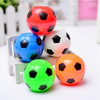 Wholesale world ball toy - 5cm Football Hand Spinner Toys Ball Fidget Spinners 2018 Russia World Cup Polyhedron Edc Round Handspinner Novelty Items CCA9552 100pcs