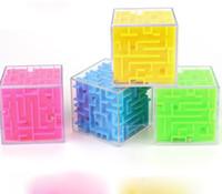 caja de dinero mágica al por mayor-Caja de dinero Plástico Cubic Money Maze Bank Saving Coin Collection Caso Cool Maze Design Money Bank Caja de regalo especial Cubo mágico
