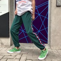 Wholesale band collection - 18ss Fashion America Collection Vintage Ankle Length Stripe Band Pants Justin Bieber casual sweatpants men hiphop jogger pants