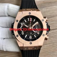 Wholesale swiss automatic movement chronograph - Luxury Brand Best AB Unico King Rose Gold 411.OX.1180 Mens Watch Swiss HUB1241 Automatic Movement 28800 VPH Sapphire Crystal Rubber Strap
