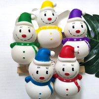 Wholesale christmas gadgets resale online - 12CM Christmas Snowman Squishy Fidget PU toys New Slow rebound squishy Simulation Funny Gadget Vent Decompression toy Novelty AAA1181
