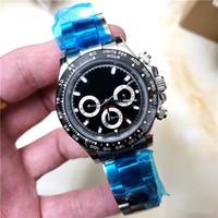 relógio de marca prata venda por atacado-Alta qualidade de luxo mens watch TONA série M116519 simples prata dial pulseira de aço A ++ máquina automática ro marca mestre relógios