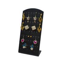 ganchos de exhibición de joyas al por mayor-Exhibición de la joyería de moda 5 unids / lote Pendiente Soporte Titular Acrílico Negro 72 Agujeros 36 Pares Pendientes Mostrar Gancho Caja de Almacenamiento de Pendientes