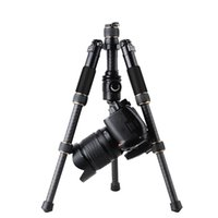 Wholesale mini ball heads - QZSD Q166C Professional Portable Travel Carbon Fiber Table Mini Tripod Monopod Stand With Ball Head For SLR DSLR Digital Camera