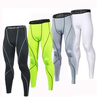 pantalons de yoga homme achat en gros de-Collants de course en gros hommes collants de compression d'entraînement leggings de course sport maigre gymnase mâle pantalon de yoga