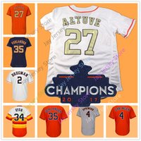 Wholesale alex white baseball - Houston WS Champions 2018 Gold Program Jersey Carlos Correa George Springer Jose Altuve Nolan Ryan Alex Bregman Justin Verlander Women Youth