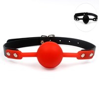 Wholesale oral gag toy for sale - Group buy Adult Games Mouth Gag Silicone Ball Oral Fixation PU Leather Band Bondage Restraints Colors Sex Toys for Couples