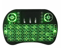 Wholesale Xbox Mouse - Air Mouse RII I8 Mini wireless keyboard Android tv box remote control backlight keyboards used for s905W S912 Tablet XBox SALE tv