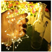 açık hava düğün pilleri ışıkları toptan satış-3 M 100 leds fişek Dize Işık 8 Modu Su Geçirmez Akülü Led Peri Yıldızlı Işık Açık Kapalı Bahçe Veranda yatak odası Düğün