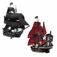 Wholesale Toys Pirate Caribbean - wholesale  building bricks 16006 16009 Pirates of the Caribbean The Black Pearl Pirate Ship Model set Building Blocks Kits Toys