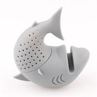 ingrosso teiere uniche-Silicone unico Straine Tè grigio Filtro per infusore Stile pesce di mare Teiera Teiere Infusi per tè