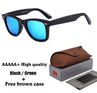 brillenetuis für männer großhandel-Marke Designer Männer Frauen Sonnenbrillen Top Qualität Metall Scharnier 100% Glaslinse Plank Rahmen Vintage Unisex Brille Mit Fall und Box