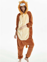 Wholesale Lion Pajamas Sets Flannel Pajamas Winter Nightie Stitch Pyjamas for Women man Adult Sleepwear Winter pajamas MX