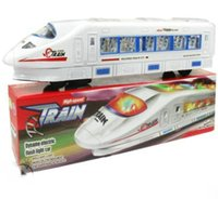 tren eléctrico al por mayor-1 UNIDS Tren eléctrico de alta velocidad Tren de juguete Tren de alta velocidad Batería de juguetes Trenes Modelo Grandes Niños Juguetes de Navidad Regalos para Niños Amigos