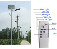 Wholesale indoor timers - 20W 30W 60w Outdoor Solar Street Light Waterproof IP65 integrated All in One Solar Street Lighting with Remote Timer control