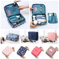 Wholesale waterproofing clothing wash online - Flamingo Women Make Up Bag Styles Floral Printed Zipper Waterproof Cosmetic Bag Travel Makeup Case Storage Wash Bags OOA5560