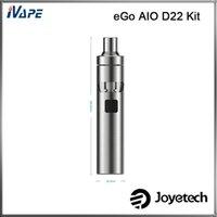 ego autêntico um kit venda por atacado-Authentic Joyetech eGo AIO D22 Kit 1500 mAh D22 Bateria 2.0 ML Tudo-Em-Um Estilo Starter Kit Fluxo de Ar Ajustável Anti-vazamento
