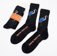 носки оптовых-Мужчины Женщины спортивные носки цапля мода новый горячий продавать носки черный хлопок носки