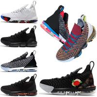 new style cd374 73a3e Nike Neue 1 bis 5 Lebron 16 King Herren Basketball Schuhe frisch gezüchtet  Triple schwarz Oreo James was die Lakers Trainer Sport Sneaker Größe 7-12
