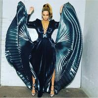 саш-ким оптовых-Вечернее платье Yousef aljasmi Kim kardashian с длинным рукавом v-образным вырезом Сплит пояса длинное платье Almoda gianninaazar ZuhLair murad Ziadnakad 0044