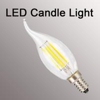 Wholesale high efficiency led - new fashion Filament Candelabra Clear LED Bulbs, E12 Base, C37 High Efficiency, 360 LED Candle Bulbs